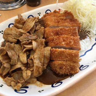 極厚ロースカツカレー+肉盛り(バーグ 吉野町店 )