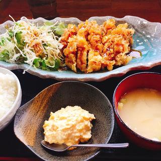 黒酢チキン南蛮定食(黒酢チキン南蛮定食たかもとや)