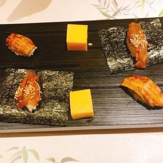 寿司2貫卵付き(鮨 青海)