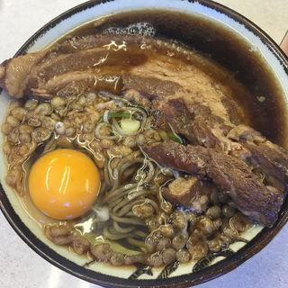 厚肉そば、生卵(豊しま 飯田橋店  )
