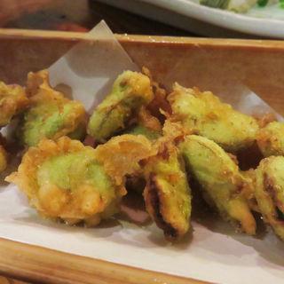 空豆の天ぷら(たべ天しゃい 室見店 )