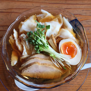冷やしワンタン麺(らーめん 三福)