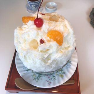 杏仁豆腐の白くま(お茶と酒 たすき )