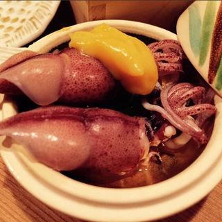 蛍烏賊の酢味噌載せ(料理 澤)