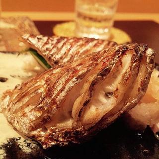 竹岡産太刀魚の炭火焼(料理 澤)