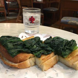 ホーレン草のトースト(神戸にしむら珈琲店 元町店 (コウベニシムラコーヒーテン))