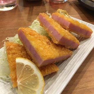 ハムカツ(大衆酒場 日本鶏園 築地店)