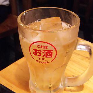 山崎蒸溜所貯蔵 焙煎樽仕込梅酒(ソーダ割)(鳥貴族 鹿島田店)