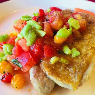 チキンソテーw/フレッシュトマトソース