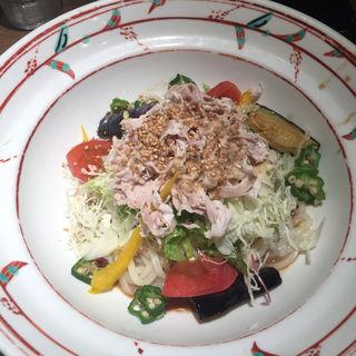 豚菜ごまだれ冷麺(茶房ひまわり イズミヤ洛北店 )