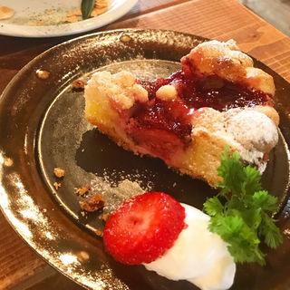 イチゴクランブルタルト(むぎわら食堂 )