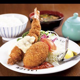 エビフライ&カニクリームコロッケ定食(八千代味清 (やちよあじせい))