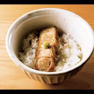 ご飯(ソースかつ丼)(とんかつひなた)