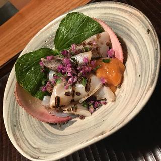 トリ貝と海鼠腸✨(京天神 野口 )