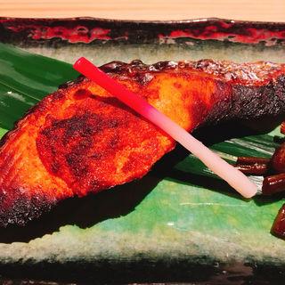 焼鮭明太御膳(博多かねふく ふく竹 東京駅店)