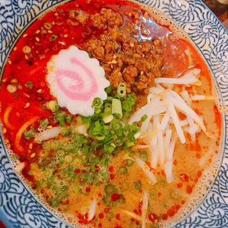 魚担々麺(自家製麺 魚担々麺・陳麻婆豆腐 dan dan noodles)