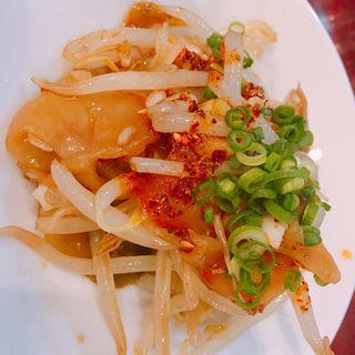 ザーサイもやし(自家製麺 魚担々麺・陳麻婆豆腐 dan dan noodles)