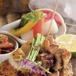 梅山豚バラ肉塩焼き