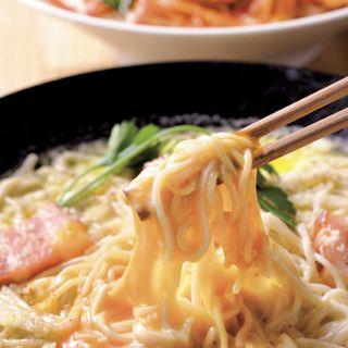 カルボナーラ蕎麦