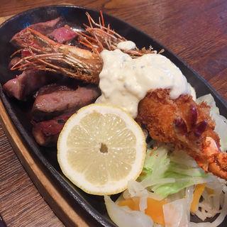 厚切りタンステーキ膳(肉食堂つぼかわ )