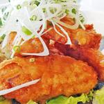 希少!ボウズギンポの唐揚げ定食(#uni Seafood)