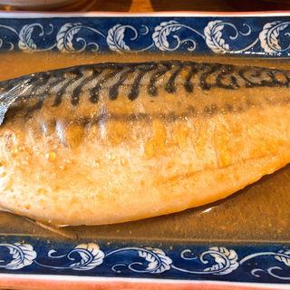 サバの味噌煮定食(白いし)