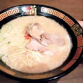 天然とんこつラーメン+追加チャーシュー(一蘭 那の川店 (いちらん))