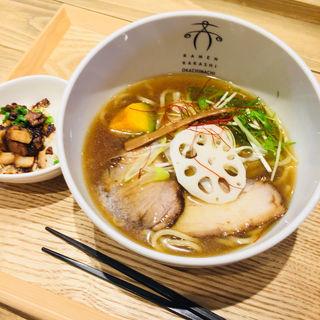 淡麗しょうゆ(太麺)&ミニ焼豚丼(案山子)