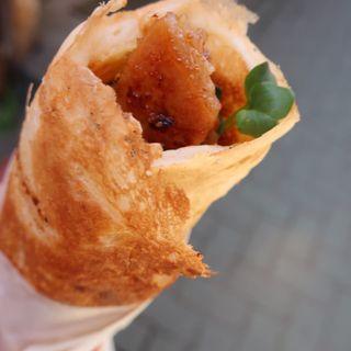 豚味噌漬けガレットチーズ添え(長瀞とガレ)