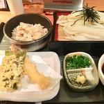 天ぷらざるうどんセット