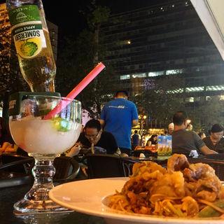 ソフトシェルクラブと青マンゴーのサラダ(Nara Thai restaurant &bar)