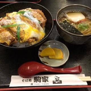 カツ丼そばセット(駒家 鷹取駅前 )