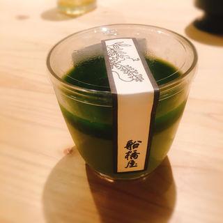 抹茶くず餅プリン (船橋屋 こよみ 広尾店 (フナバシヤコヨミ))