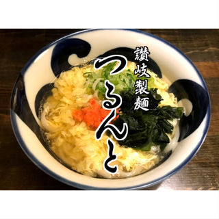 明太あんかけかきたまのうどん(讃岐製麺 つるんと)