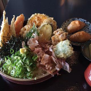 野菜天ぶっかけ(大地のうどん 福岡東店)