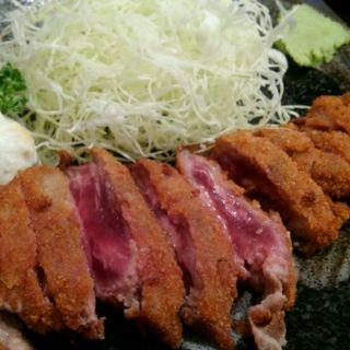 牛ロースかつ麦とろセット(牛かつ 壱弐参 (ぎゅうかつ いちにさん))