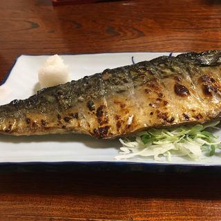 鯖の一枚焼き定食(真)