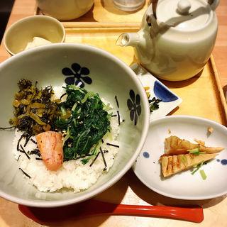 炙り明太子と高菜(だし茶漬け えん エキマルシェ新大阪店 )