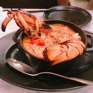 チーズフォンデュみたいなとろ~りチーズとオマールのトマトクリームドリア(MERCER CAFE DANRO)