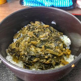 ミニ高菜どんぶり(あり賀せいろう )