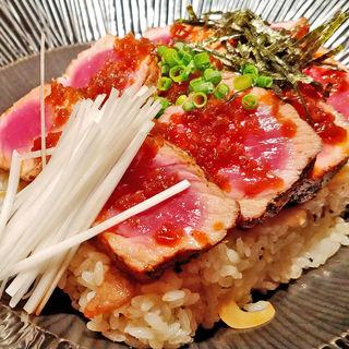 サーロインステーキ丼~山芋のわさび漬けとナスの生姜焼きを添えて~(BULLS (ブルズ))