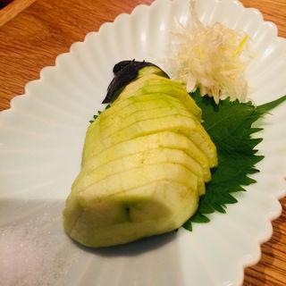 水茄子刺身(駿 上野店)