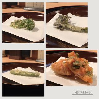 季節の天麩羅(山中湖 菜庭料理 尚起)