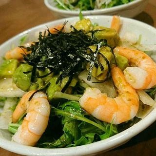 海老とアボカドのサラダ(徳田酒店 ルクアバルチカ店)