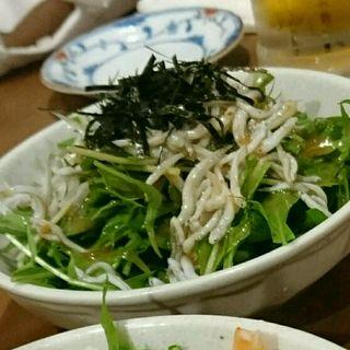 しらすと水菜のサラダ(徳田酒店 ルクアバルチカ店)