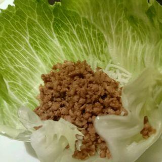 ミンチのレタス包み(広東料理 民生 ヒルトンプラザウエスト店 (みんせい))