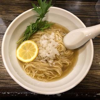 秋刀魚と羅臼昆布の冷やしそば(丿貫)