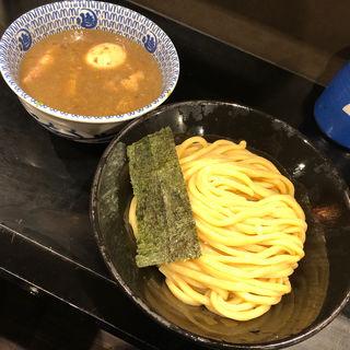 豚骨玉子つけ麺 タレ半麺ヒヤヒヤ(無鉄砲 つけ麺 無心 (むてっぽう つけめん むしん))