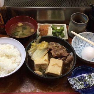 肉豆腐定食(菊三八 (きくみや))