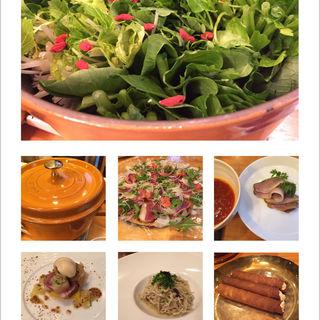7つの野菜と河内鴨のコース(foujita)